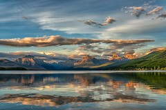 Summer Daze (Philip Kuntz) Tags: sunset reflections dusk evening sundown mcdonaldlake apgar glacier glaciernationalpark montana