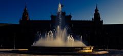 Seville, la  Plaza de España (antony5112) Tags: seville siviglia plazadeespaña plaza españa andalusia architecture fountain sunset
