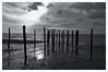 Fischzaun (RadarO´Reilly) Tags: föhr hedehusum sh germany küste coast strand beach ebbe gezeiten lowtide himmel sky wolken clouds sw schwarzweis bw blackwhite monochrome nordsee nordfriesland northsea