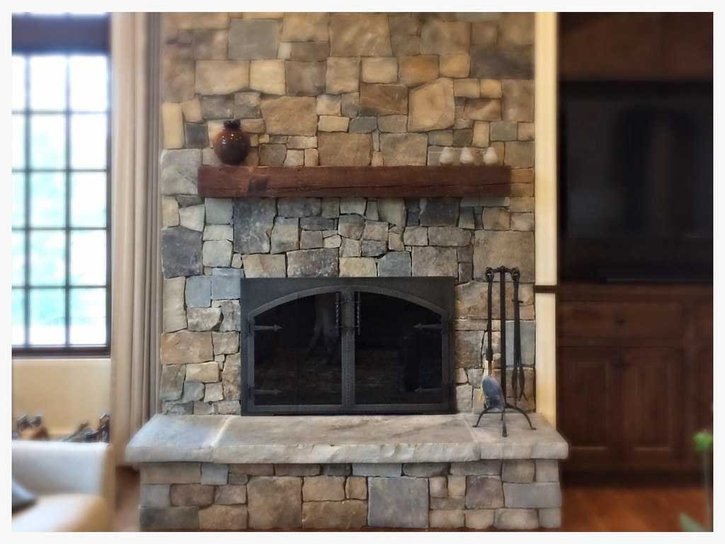 Design Specialties Hammered Edge Rectangle to Arch Fireplace Doors. Chattanooga, Tn.