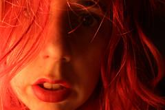Day 151 (Esme on Plum Island) Tags: redhair loelit lowlight warm messy messyhair bedhead