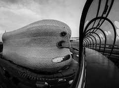 The Bullring (Mayur Shivz - Out and about casual photography) Tags: architecture bullring west midlands birmingham b1 shopping mall structure pattern perspective ultra wide angle fish eye samyang 75mm micro four thirds mft bridge connect moor street station selfridges