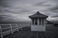 On Cromer Pier (Jacob Kenworthy) Tags: landscape le pier cromer cromerpier monochrome movement motion moody clouds