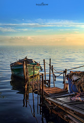 peaceful afternoon (dim.pagiantzas | photography) Tags: peaceful afternoon summer sky clouds sea seascape water waterscape boat fishing colors colorfull jetty greece hellas macedonia outdoor nature blue bluesky canon