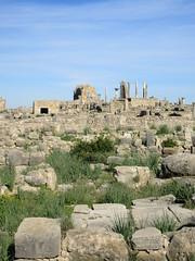 Massive stones, view to ruins of Capitol and Basilica, Volubilis, Morocco (Paul McClure DC) Tags: morocco almaghrib fèsmeknèsregion volubilis jan2017 roman architecture historic