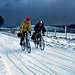 Enjoying the snow ! (DP the snapper) Tags: anitabye jostinton people offasdyke scans middleknuck cyclists snow kidderminsterctc