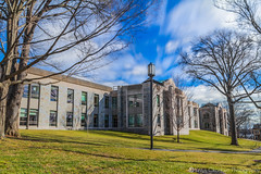 Tisch Library (Vintus Okonkwo fotografi) Tags: library tisch tufts lawn green wavy clouds sky blue long exposure hdr range dynamic high university popular 500px building architecture landscape t5i canon blending