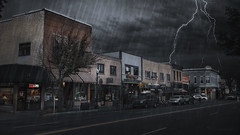 main street america (cherryspicks (on/off)) Tags: town street storm rain dark usa colorado america gloomanddoom durango