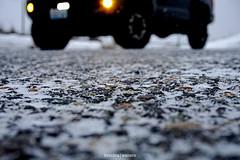 Snowy Asphalt (kendrawaters) Tags: asphalt blacktop tires tacoma toyota snow winter