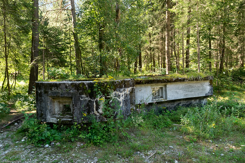 RUPNIK LINE, PROTECTION OF FORMER RAILWAY BRIDGE OVER THE SAVA RIVER. BELCA, SLOVENIA.