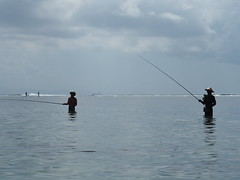 Fishing (hooge69) Tags: water bali sanur fishing asia longtime hot fischen meer man indonesien angeln olympus outside natur