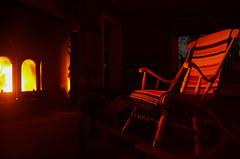 Rocking chair around the fireplace (ruben garrido lopez) Tags: laponia laponiasueca lapland swedishlapland fuego chimenea fireplace chimney kiruna nikond5100 rockingchair mecedora