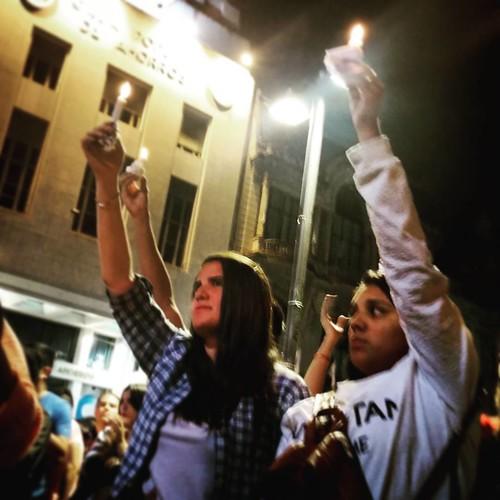 Vigilia de velas en #tucuman.