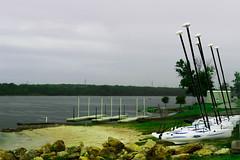 Boats on dock (cox7586@sbcglobal.net) Tags: lake green water rock canon landscape boats boat dock rocks pancake 40mm
