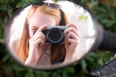 Selfie (AmeliaIsobel) Tags: camera red reflection girl bike hair mirror spain photographer redhead soller selfie
