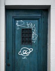 @ WIFI (jpi-linfatiko) Tags: door blue urban azul puerta exterior wifi urbana urbano scratched rayado
