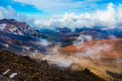 Haleakala Volcano, Maui - 23 (www.bazpics.com) Tags: park mountain rock landscape volcano hawaii lava us amazing scenery rocks unitedstates cone extreme maui national haleakala valley ash hi volcanic devastation cinder dormant cindercone kula devastated