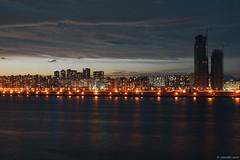 2014-08-02 20-25-59 (yoonski21) Tags: bridge sunset silhouette river asia dusk korea seoul kr          nex7 yoonskiwithnex7 yoonski yoonskikorea yoonskiseoul