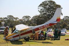 Victoria Park Aircraft Emergency Landing (adelaidefire) Tags: park fire south australian police australia victoria ambulance adelaide service sa metropolitan cessna mfs saas samfs sapol 182h vhdnz