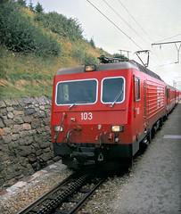 Tschamut FO Geh4/4 103 Glacier Express St Moritz to Zermatt 15th Aug 88 C 11165 (DavidWF2009) Tags: schweiz switzerland fo 103 tschamut geh44
