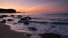 "Whitepark Bay Sunset July 2009 (frcrossnacreevy) Tags: sunset beach magic cliffs nights 1001nights 1001 city"" causewaycoast whiteparkbay coastalrocks nikond300 portbraddan"