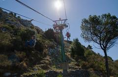 Into the heavens - DSC_0459 (John Hickey - fotosbyjohnh) Tags: italy sun capri chairlift anacapri 2015 montesolaro september2015