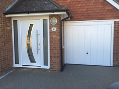 Hormann front door with side elements and Horman Elegance garage door.