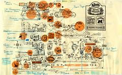 Halloween Haunt map, 1976 (jericl cat) Tags: halloween notes map maze 1976 haunt knotts roaring20s scaryfarm