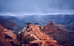 Snow In The Distance (sm.jacobs) Tags: chimney cliff snow cold nature landscape nationalpark grandcanyon sony steps trails adventure wilderness cliffside coldcolors a6000