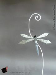 Between heaven and earth (-sebl-) Tags: sky flower paper origami heaven dragonfly earth shadowfold sebl
