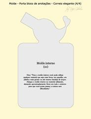 Molde porta bloco de anotações 'Correio elegante' 4/4 (Feito a mão [by Rafa]) Tags: felt feltro fofo molde fieltro façavocêmesmo portabloco feltrosantafé rafagibrim