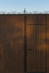 Textura con sol (Julianrg) Tags: door wood blue sky españa brown detalle detail texture textura azul spain puerta madera iron waves shadows toledo cielo sombras ondas acero hierro marrón bernuy