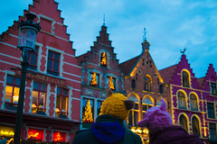 Look at the colors (p.nikoloup) Tags: christmas night lights nikon belgium market hats bruges d3200