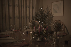 guests expected~Explored (Wendy:) Tags: explored christmas table tree lights candles glass ocf odc pixelkingremotetriggers indoor decorations dining glasses speedlite 580exii