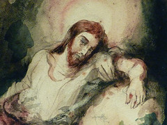 DELACROIX Eugène,1826 - Le Christ au Jardin des Oliviers, Eglise St-Paul-St-Louis, Paris, Etude (drawing, dessin, disegno-Louvre RF23325) - Detail 41 (L'art au présent) Tags: drawing dessins dessin disegno personnage figure figures people personnes art painter peintre details détail détails detalles 19th 19e dessins19e 19thcenturydrawing 19thcentury detailsofdrawing detailsofdrawingdessins croquis étude study sketch sketches tableaux louvre museum eugènedelacroix eugène delacroix france lechristaujardindesoliviers christinthegardenofgethsemane gardenofgethsemane christ jardindesoliviers aquarelle watercour watercolor man men homme romantic romantique romantisme romanticism romance armes weapons soldats soldiers rocher rock nuit night ombre shaddow paris