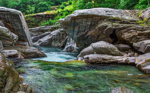 Lavertezzo, řeka Verzasca