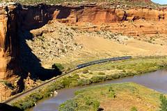Ruby Canyon (shawn_christie1970) Tags: mack colorado unitedstates us rubycanyon amtrak californiazephyr mesa coloradoriver passengertrain railroad unionpacificrailroad ge amtk9 amtk71 p42dc