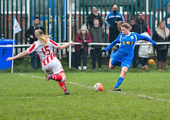50-50 ? (ukmjk) Tags: stoke city reserves goldenhill wanderers ladies football staffordshire cup nikon nikkor d500 70200 vr2