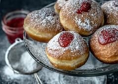 Chanukkah-5 (Irena_ka) Tags: evgeniagrande jenia chanukah donats food foodphotography holidays jewishholidays sufgania sufganiyot