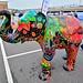 Sheffield Elephant Trail, Gulal Graffiti By Sue Guthrie