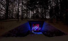 Bunkereingang (david_drei) Tags: lapp lichtkunst rgb lightpainting bunker snow schnee