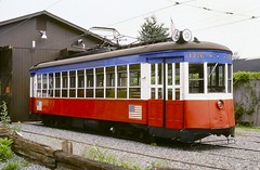 Red, White, & Blue (en tee gee) Tags: streetcar trolley pantograph maryland