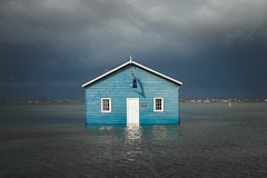 (Periklen) Tags: university boat house shed uwa australia summilux leica swan river western crawley blue blu underwater storm rain weather water sea