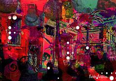 Street Party (brillianthues) Tags: city urban philadelphia badlands colorful collage photography photmanuplation photoshop