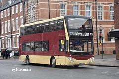 East Yorkshire 802, BP66VLE. (EYBusman) Tags: east yorkshire motor services eyms hull bus coach brand new albion street city centre mcv evoseti volvo eybusman b5tl bp66vle