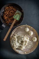 Stuffing for the sweet potato dumplings (color and spices) Tags: pithe poush parbon sankranti makar bengalicuisine dessert sweet potato jaggery rangalur puli