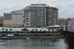 """An """"Ibis"""" hotel - also """"Harborside"""" monorail station remnant can be seen Darling-Harbour-Autumn-in-the-rain-2017 (nicephotog) Tags: bay water dock harbourside shopping centre ultimo pyrmont sydney nsw darling harbour ibis hotel motel monorail station"""