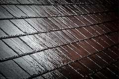 Wet slate (Anthony P26) Tags: art category england georgepilgrim glastonbury macroother places shapeslines somerset travel roof slate pattern lines shapes rain rainwater canon1585mm canon canon70d