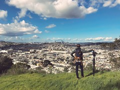 Surveying (BAYCAT) Tags: ryanscura baycat bayview hunters point san francisco sf bay area mountain hill sky skyline view downtown city man person canon c100 bridge shooter cinematographer