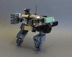 Ovcharka (Dryvvall) Tags: mech robot walker drone railgun tank vertical bipedal metalgear